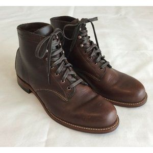 Wolverine Luke 1000 Mile Boots 11D Brown Leather